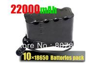 2Pack/alot 22000mAh 8.4v Li-ON 10x18650 Battery Pack For  Headlamp/ headlight /bicycle light /Bike Lamp Free Shipping
