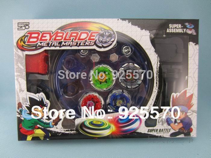 Rare Beyblade Ultimate 4D Top Rapidity Metal Fusion Fight Master Masters Set cem, original box NEW(China (Mainland))