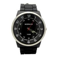 [Free Shipping] Xonix Fashion Black Round Analog Mens' Sport Watch 100m waterproof SV series Since 1978