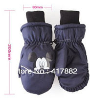 Free shipping high-grade thicken skiiling gloves for Children 2-6 years size 200mmx80mm