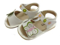 Child sandals sound slip-resistant shoes toddler leather genuine leather liner bb sandals z065
