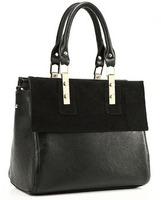 The original brand Composite Genuine Leather women Handbag Brown fashion designer big bag FreeShip Promotion!