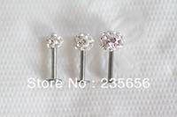 Free shiping 2014 New  Wholesale Body piercing jewelry earrings ear stud CZ 20/pca Labret lip piercing jewelry C0288