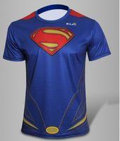 Hot Sale Marvel t Shirt 2014 New Fashion Super man Heroes Shirt Men's Clothing Sport Jersey Breathable Short Sleeve Shirt