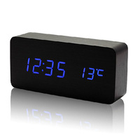 7 Colors LED  alarm clock + Temperature thermometer voice activated , Battery/USB power /luminova display digital clock
