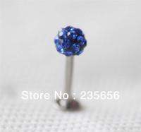 Free shiping 2014 New Body piercing jewelry earrings ear stud CZ 1/pc Labret lip piercing jewelry C0290