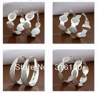 5pairs/Lot mixed 925 Sterling Silver Jewelry Earings 2013 Brand