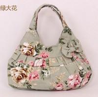 2014 Small portable canvas handbag fashion casual women handbag women shoulder handbag bag