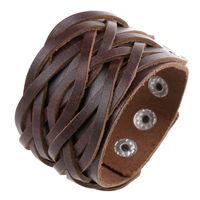 New 2014 men jewelry genuine leather bracelet 5261-1