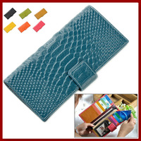 Genuine Real Leather Ladies Clutch Wallets 2014 New Fashion Candy Crocodile Design Multi Card Holders Money Cowhide Long purses
