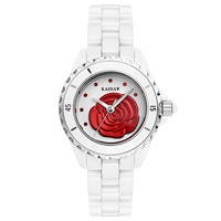 Rose series ceramic watch embossed natural shell surface ladies watch waterproof quartz watch
