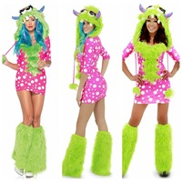 Melody Monster Costume Halloween role -playing animal costumes dress 10206-2 , free shipping