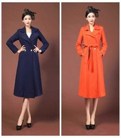 2014 spring coat han edition plus-size fashion tide lengthening female long dust coat