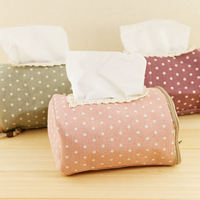 Hearts . zakka fluid fabric lace multifunctional tissue storage box paper pumping box