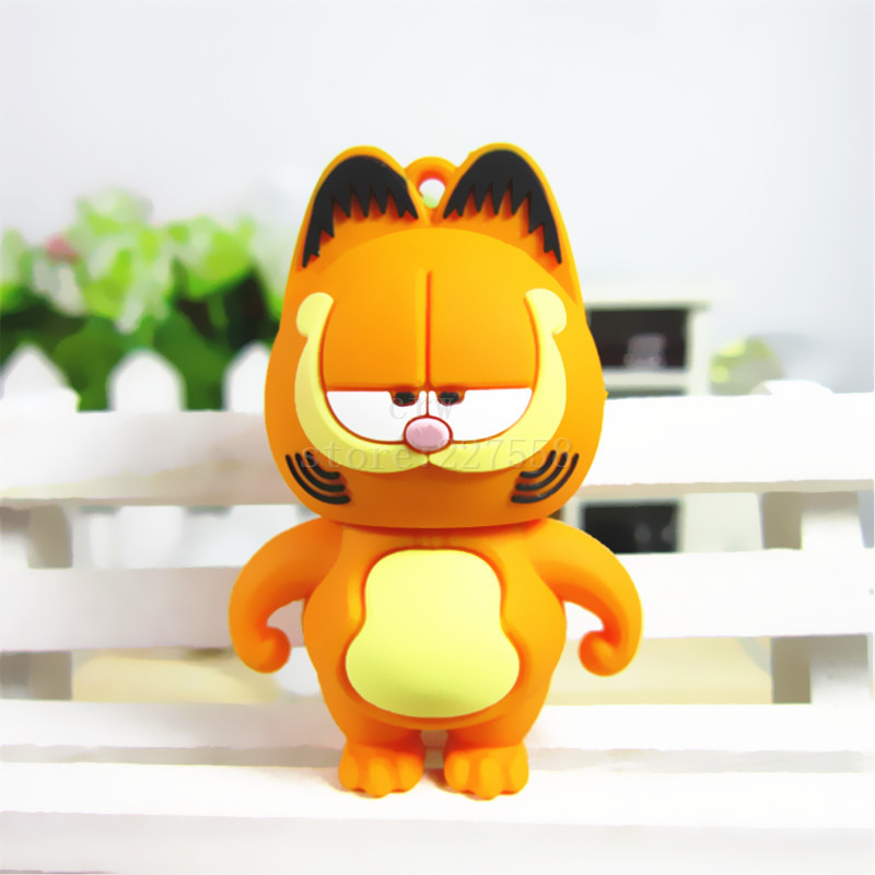 Pen Drive Garfield cat Sleepy 4GB 8GB 16GB 32GB 64GB Usb Flash Drive memory stick Pendrive Pendriver mini gift(China (Mainland))