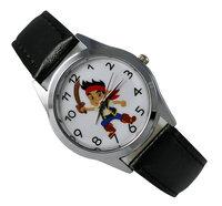 Jake and The Never Land Pirates  Black Leather Fashion Boy Child Watch Wrist Gift Free Shipping