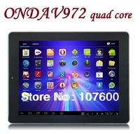 "Free shipping Ultrathin Onda V972 9.7""Allwinner A31 Quad Core RAM 2G Android 4.2 ISP 2048x1536 touch capacitive screen Tablet PC"