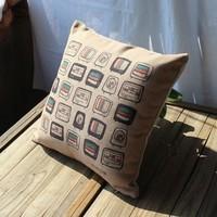 2014 Thick fabric vintage tv pattern pillow cushion car cushion sofa cushion core