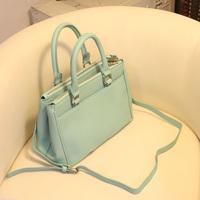 free shipping Women's handbag 2014 bag fashion vintage motorcycle bag double zipper handbag messenger bag