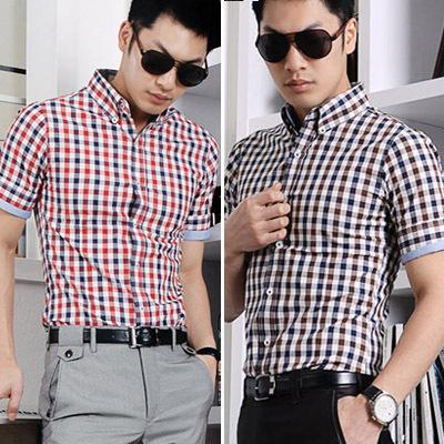 Dress Pants With Short Sleeve Shirt Short-sleeve Shirt Color Block