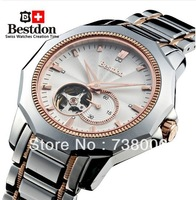 SWISS Watch fully-automatic vintage mechanical watch male tungsten steel mens watch bd7716g,Free Shipping