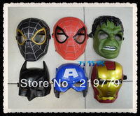 PVC Super Heroes Mask Spiderman Batman Iron man The Hulk Captain America Face Party masks Kids Adults Halloween Christmas