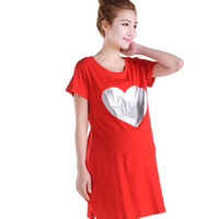 2013 maternity clothing summer plus size maternity dress maternity t-shirt short-sleeve love