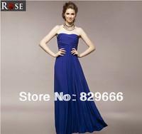 2.14 fashion one-piece dress elegant tube top evening dress full dress
