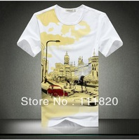 Hot sale pure color Print T shirt Short Sleeve Cotton T-shirt, O-neck Design Fashion Casual Men Tshirt, popular T shirts,tee