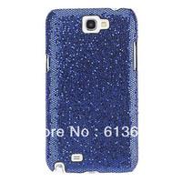 For Samsung Galaxy Note 2 II N7100 Cover Case Diamond Lattice Case, N7100 diamond skin case(blue)