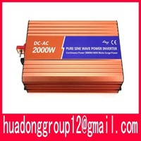 HOT SALE!! 2000W Off Inverter Pure Sine Wave Inverter DC12V to 220V input, Wind Solar Power Inverter