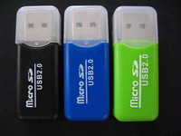 Free Shipping 5pcs High Speed USB 2.0 Micro SD T-Flash TF M2 Memory Card Reader adapter