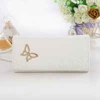 yp011 Free shopping 1pcs 5color han edition long purse/zipper cute wallet bag/women leather handbags