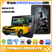 New arrival 10 inch Quad core tablet  Actions ATM7029 Android 4.2 HDMI WIFI camera Bluetooth OTG 1GB RAM 8GB/16GB ROM Tablet 10