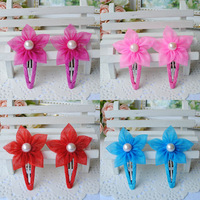 Free shipping Silk yarn flower hairpin child hair clips hair clip child hair accessory female child hair accessory bb clip
