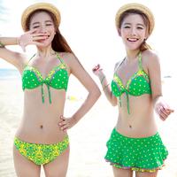 Free Shipping sexy polka dot bikini lady women's sexy swimwear girl's swimsuit Hot spring and Beach bathing suit