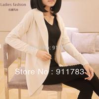 7 COLORS New 2014  women's Slim Medium-Long Cardigan Fashion 100% Cotton Plus Size Sweater Women Cardigan Free Shipping DDS 061