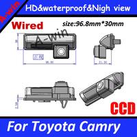 HD CCD Waterproof Reverse rear Car Backup Camera For Toyota Camry reversing camera Night version