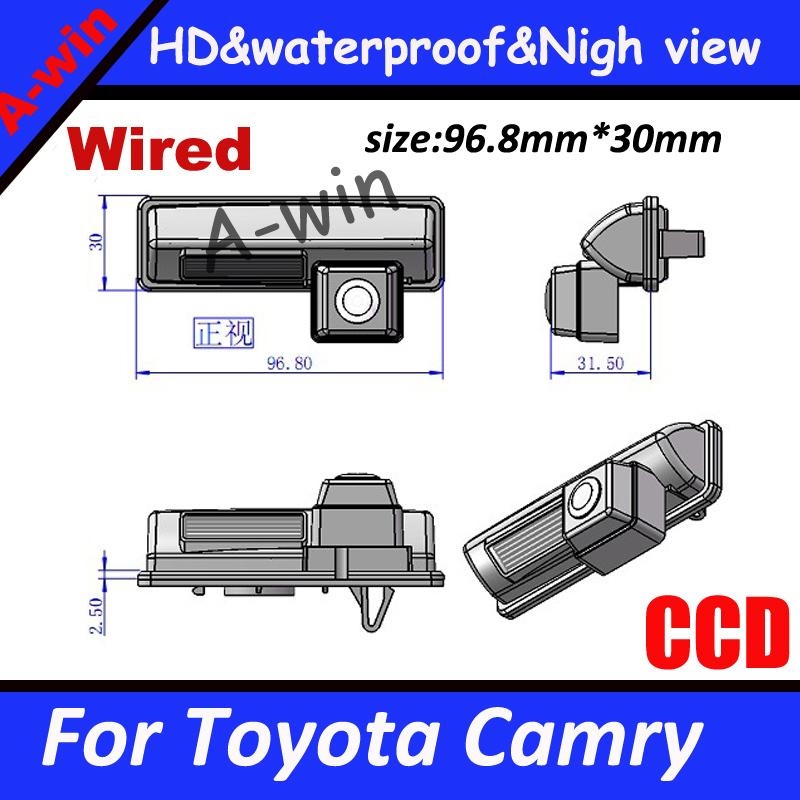 HD CCD Waterproof Reverse rear Car Backup Camera For Toyota Camry reversing camera Night version(China (Mainland))