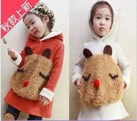 children long sleeve hoodies+ baby pants ,Autumn and spring models Girls Boys Fleece sweater piece Cubs