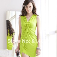 2014 New arrive girl's sexy asymmetrical volvulus vest dress cheap online free shipping for sale
