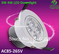Quality  favorable CREE 3W 4W LED Downlight 85-265V LED Buble Ball LED Light Lamp Frosted surface Conjoined lens