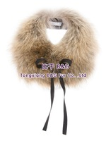 BG60085 Genuine Natural Raccoon Dog Fur Collar Wholesale Retail OEM 2014 New Winter Unisex Real Fur Scarf Warmer Real Fur Collar