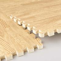 Eco-friendly wood grain eva foam mats floor puzzle child slip-resistant pad crawling mat bedroom carpet