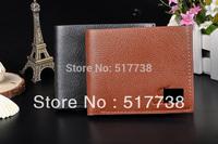High Quality leather brand designer mens wallet brown black color for men