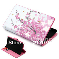 Wholesale and retail PLUM FLOWER PATTERN FLIP LEATHER WALLET STAND CASE COVER SKIN FOR Nokia Lumia 520