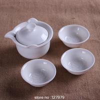 Hand pot, white porcelain tea set, Dehua white porcelain,ceramic tea pot, with filter, special~