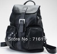 Girl's boys genuine leather,cowhide,backpacks,shoulders bag,black,brown,school bag,bookbag,real leather,small bag,3025