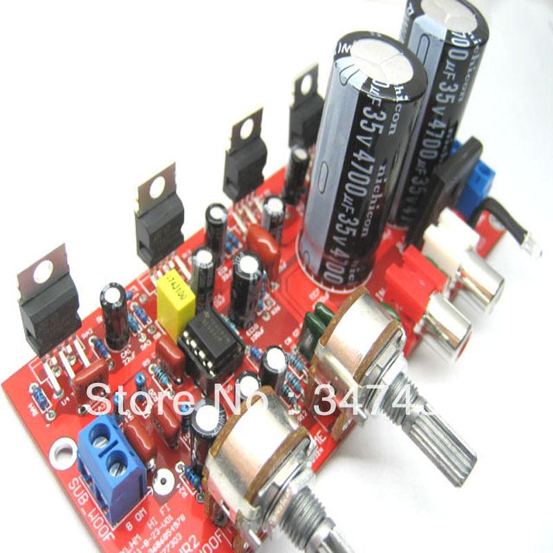 Tda2030a 2.1 subwoofer placa amplificadora kit peça acabada 55 yuan NE5532 pré amplificador especiais(China (Mainland))