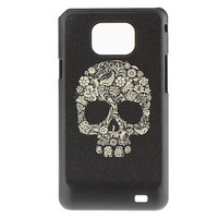 Yellow Skull Pattern Hard Case for Samsung Galaxy S2 I9100